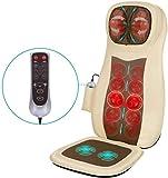 Naipo Massageauflage Shiatsu Massagesitzauflage Rückenmassagegerät Elektrisch Massagegerät mit Wärmefunktion Kneten 3D Rollmassage Vibration