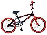 AMIGO BMX Extreme - Kinderfahrrad - 20 Zoll - Jungen - BMX Fahrrad - Freestyle - ab 5 Jahre - Schwarz/Rot
