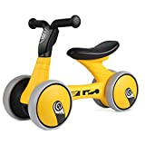 Bamny Kinder Laufrad superleichtes Lauflernrad für Baby und Kinder 1-3 Jahre Alt (Gelb-Schwarz)