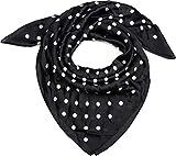 styleBREAKER Damen Dreieckstuch mit Polka Dots Punkte, Multifunktion Tuch, Halstuch, Kopftuch, Bandana 01016171, Farbe:Schwarz