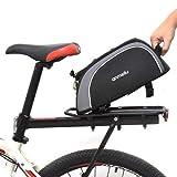 Seasaleshop Fahrrad Satteltasche, Gepäckträger Fahrradkoffer 8L wasserdichte Fahrradträgertasche Multifunktion Fahrradpackung Großer Fahrradtasche Rückentasche