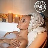Laneta ZenHome Badewannenkissen - Nackenkissen Badewanne HYGIENISCHES Kissen Badewanne mit Premium Spezialschaumfüllung- Badewannenkissen Nacken - Badekissen - Wannenkissen