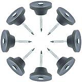 Montageknöpfe mit Nagel 30mm für Noppenbahn 100 Stück - Scheibendurchmesser 22mm - Loch 4,5mm - Schwarz - Chrispol