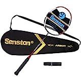 Senston S330 Carbon Badmintonschläger Graphit Badminton Schläger mit Schlägertasche