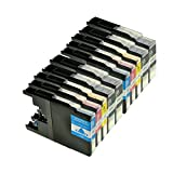 Logic-Seek 10er Set Tintenpatronen kompatibel für Brother LC1240 LC1280 XL, 4X BK 30ml,2X je Farbe 23ml, kompatibel für LC-1280XL