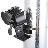 YChoice365 4-flügeliger wärmebetriebener Ventilator, magnetischer Rauchrohr, wärmebetrieben, umweltfreundlich und effizient, Ventilator für Holzofen, Kamine, Kamine.
