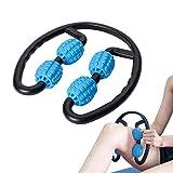 JEEZAO Beine Muskelmassagegerät,Beinklemme Anticellulite Massager, Rollenmassagegerät Artefakt für Magere Beine Arme Hals (Blau)