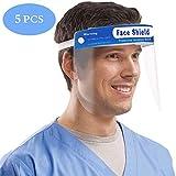 5 Stück Safety Gesichtsschutzschirm, Gesichtsschutz Sicherheitsgesichtsschutz Vollschutzkappe Breites, visierbeständiges Spuck-Anti-Fog-Objektiv