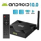 Android TV Box, GKG Android 10.0 TV Box 4GB RAM 32GB ROM Allwinner H616 Quad-Core Dual WiFi 2.4G + 5G Unterstützung BT 4.1 USB 3.0 Ethernet 4K 3D Android Box [2020 Neueste]