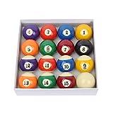 BESPORTBLE Poolbälle Set Snooker Bälle Tisch Billard Spielbälle Komplettset Professionelles Billard Poolzubehör für Heimklubspielzubehör 48Mm 16St