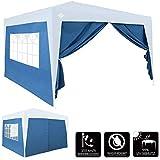 Deuba® Pavillon Seitenwände für Capri 3x6m blau wasserabweisend Faltpavillon Gartenzelt Partyzelt