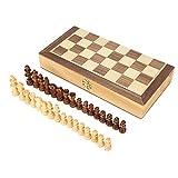 Hölzernes Schachspiel, Faltendes Magnetisches Schachspiel mit Handgemachten Hölzernen Schachfiguren für Kinder Erwachsene Ältere Logisches Denken