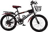 Xiaoyue Fahrräder Jugend Fahrrad männliche und weibliche Pedal Fahrräder Mittelschule Elementary Rennrad 20/18 Inch Variable Speed Kinder Mountainbike (Farbe: Rot, Größe: 18inch) lalay