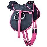 Kinder Pony Reitkissen | Ponysattel komplettes Set mit Stick und Schlüsselanhänger auch für Holzpferde geeignetes Sattelset | Cub Saddle Set