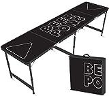 Offizieller Black Beer Pong Tisch | Premium Qualität | Offizielle Wettkampfmaße | Beer Pong Table | Kratz und Wassergeschützt | Stabil | Partyspiele | Trinkspiele | House Party | 100% Spaß