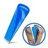 Trawomax Dreh-Spaltkeil zum Spalten von Brenn Holz - [2 kg] - Spaltkeil aus extra gehärtetem Carbonstahl mit hoher Langlebigkeit - Holzspaltkeil | Spalter für Holz | Spaltgranate (Metall, Blau)