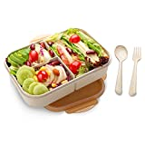 SIPU Lunchbox mit Unterteilungen Brotdose Kinder Bento Box auslaufsicher für Schule Arbeit Picknick Reisen Untrwegs Mikrowelle- Spülmaschinengeeignet