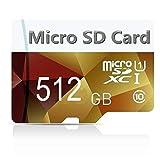 Geneircc Micro-SD-Karte, 128 GB, 256 GB, 512 GB, 1024 GB, mit Adapter 512 GB