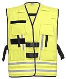 PACOTEX Funktionswesten zur Kennzeichnung von Einsatzpersonal wie z.B. Feuerwehr Warnweste (leuchtgelb)