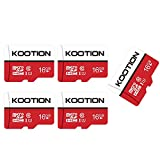 Kootion Micro SD Karten 16GB Class 10 5er Pack Mini SD Karte 5 STK Speicherkarte UHS-I MicroSDHC 16G Set Memory Cards 5 Stück SD Karten Micro SD Cards für Kameras Handy Tablets Android Smartphones