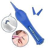 ASEOK Infant Nase Reinigung Pinzette mit LED-Licht-Sicherheits-Round-Head-Baby-Ohr-Nasen-Nabel-Reinigungsmittel-Werkzeug Zange Plastic Cleaner Clip, Neugeborener Sicherheit Sicherer Pflege (Blau)
