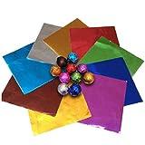 Homiki Praline-Wrappers Alufolienverpackungen Zuckerfolie für DIY Candy Verpackungsdekoration 900 Stück Haushaltsgegenstände