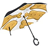 Mike-Shop Hundekeks Icon Set Inverted Umbrella Double Layer Winddicht UV-Schutz Upside Down Umbrella