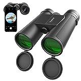 Usogood Fernglas, 10x42 Fernglas Erwachsene Kompakt Ferngläser für Vogelbeobachtung, Wandern und Jagen, 16,5mm BAK-4 Prisma und Mehrschichtiger FMC Antireflex Grünfilm