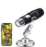 USB Mikroskope - WiFi Digital Mikroskop, Mini Kamera 50 bis 1000x Vergrößerung Endoskop 8 LED Taschen-Handmikroskopkamera mit Metallständer Kompatibel mit iPhone, iPad, Android-Telefon, Mac