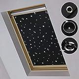 iKINLO 47 * 78cm Dachfensterrollo für Velux FK04 Sonnenschutz Rollo Sonnenrollo mit Saugnäpfe Geeignet für, Schlafzimmerfenster, Dachfenster,Schlafzimmer und Kinderzimmer.