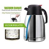 BSET BUY 1.5L Thermoskannen Kaffeebereiter Edelstahl Vakuum Kaffeebereiter Isolations Topf Kaffeekannen thermosflasche - Heiß und kalt dual Gebrauch