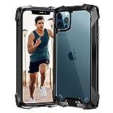 Beeasy iPhone 12 Pro Max Hülle,Stoßfest Anti-Scratch Perfekter Schutz Handyhülle,Transparente Hard Rückseite Schutzhülle,Display-Kameraschutz Case Cover für iPhone 12 Pro Max 6.7'' 2020,Schwarz