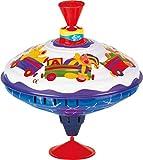 Bolz 52304 - Brummkreisel Spielkiste 19 cm, Blech Schwungkreisel, klassischer Pumpkreisel, Blechkreisel mit Spielzeug Motiven, Kreisel mit Standfuss, Spielzeugkreisel für Kinder ab 18m+