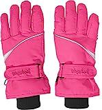Playshoes Kinder-Unisex Skihandschuhe Thinsulate Fingerhandschuhe mit Klettverschluss, pink, 5
