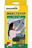Schellenberg 20409 Fliegengitter Insektenschutz für große Fenster, Mückenschutz inkl. Klebestreifen, ohne Bohren, 150 x 180 cm, anthrazit