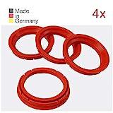 KONIKON 4X Zentrierringe 73,0 x 57,1 mm Rot Felgen Ringe Radnaben Zentrierring Adapterring Ring Felgenring Distanzring Made in Germany