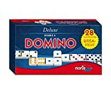 Noris 606108002 606108002-Deluxe Doppel 6 Domino, Spieleklassiker