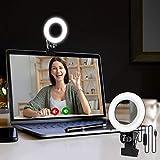 Video Konferenz-Beleuchtungsset, Beleuchtung für Monitor-Clip-On, für Fernarbeit, Fernunterricht, Zoom-Anrufbeleuchtung, Selbstübertragung und Live-Streaming, Computer- und Laptop- Videokonferenzen.