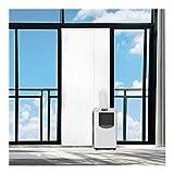 Rhodesy Airlock Türabdeckung Fensterabdichtung für mobile Klimageräte und Ablufttrockner,Tür und Fenster tragbare Klimaanlage Türabdeckung Seal Kit, Tür weiche Tuch-Dichtung