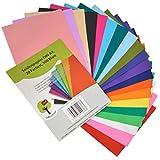 OfficeTree Seidenpapier 300 Blatt A4 - bunt 20 Farben - mehr Spaß am Basteln Gestalten Dekorieren - Skizzen- und Zuschnitt-Papier - 16 g/qm Premium-Qualität