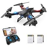 SNAPTAIN S5C Drohne mit Kamera HD 720P Live-Übertragung, WiFi RC Quadrocopter, Sprachsteuerung Gravitationssensor Kopfloser Modus Höhehalten 3D Flips Notlandung, RC Drohne für Anfänger