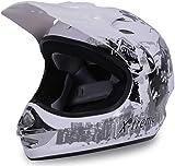 Actionbikes Motors Motorradhelm X-Treme Kinder Cross Helme Sturzhelm Schutzhelm Helm für Motorrad Kinderquad und Crossbike (Weiß, XS)