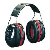 3M Peltor Optime III Kapselgehörschutz schwarz-rot - Größenverstellbare Ohrenschützer mit Doppelschalentechnologie für max. Dämpfung - SNR 35 Hörschutz auch bei sehr hohen Lautstärken