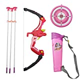 AMEYXGS Kinder Bogenschießset Bogenschießen Spielzeug mit Saugerpfeilen Ziel und Köcher für Kinder und Anfänger (rot)