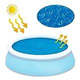 everso Solarplane Pool Rund Schwimmbadabdeckung Verdunstungsschutz Solarfolie Pool Schwimmbecken Abdeckung Solarabdeckplane für Pool (10ft)