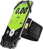 Bone Collection Sportarmband für Handy, Federleichtes Handy Armband zum Joggen Handytasche Sport, Handyhalter Arm für iPhone 11 Pro Max XS XR X 8 Samsung Galaxy Huawei - Schwarz L(Armumfang 25-35.5cm)