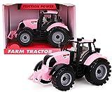 Toyland® 22cm x 12cm Reibung angetriebener Traktor mit öffnender Motorhaube (Rosa)