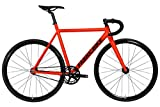 FabricBike Light PRO - Fixed Gear Fahrrad, Single Speed Fixie Starre Nabe, Aluminium Rahmen und Gabel, Räder 28', 4 Farben, 3 Größen, 8.45 kg (Größe M) (Light Pro Matte Red, M-54cm)