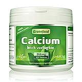Greenfood Calcium, Tagesbedarf, 300 Tabletten, hohe Bioverfügbarkeit – wichtig für Zähne, Knochen und Muskeln. OHNE künstliche Zusätze. Ohne Gentechnik. Vegan.