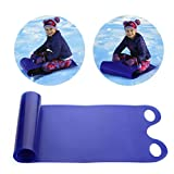 basku Schlitten, Freestyle-Snowboard für Kinder, Faltbarer, Flexibler Teppichschlitten mit 2 Griffen, schneller Ski-Pad-Schlitten, strapazierfähiger Kunststoff-Schneeschlitten für Erwachsene, Kinder,